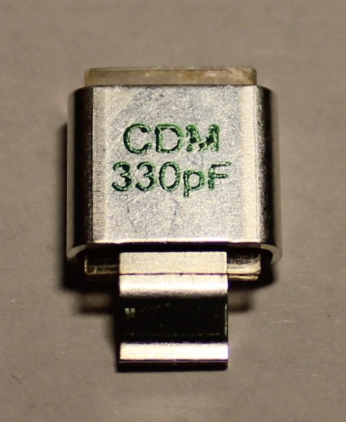 330PF 500V Metal Cased Mica 1pc