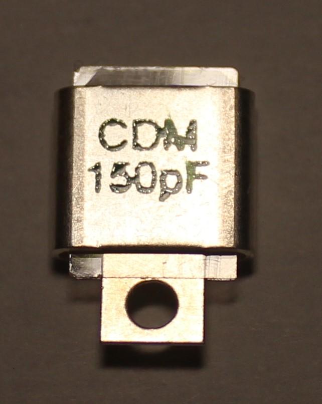 150PF 500V Metal Cased Mica 1pc