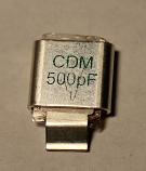 500PF 500V Metal Cased Mica 1pc