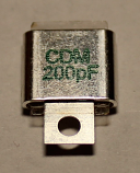 200PF 500V Metal Cased Mica 1pc