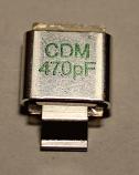 470PF 500V Metal Cased Mica 1pc