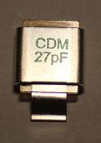 27PF 500V Metal Cased Mica 1pc